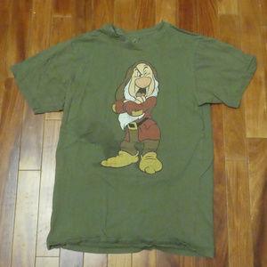 Disney Grumpy Snow White Green T-Shirt